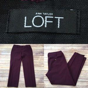 Size 4 LOFT Marisa Fit Tapered Leg Trouser Pants
